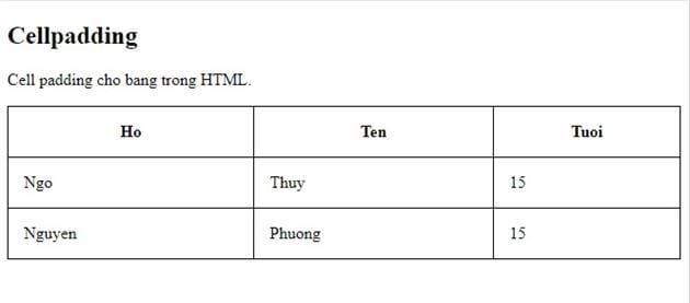 bang table in html 8