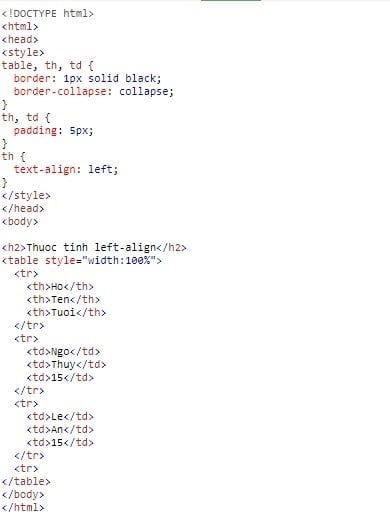 bang table in html 9