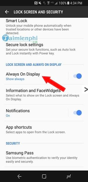 Always do everything on display on Samsung Galaxy S8 S8 plus 4