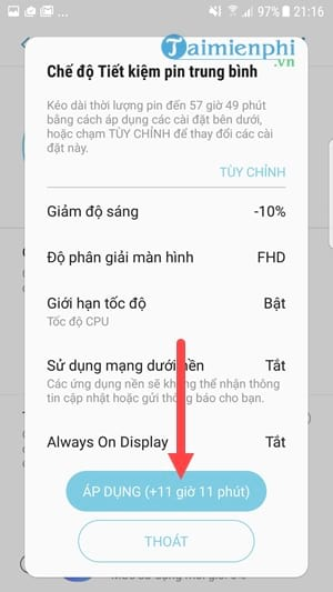 Remove all battery settings on Samsung Galaxy S8 S8 Plus 6