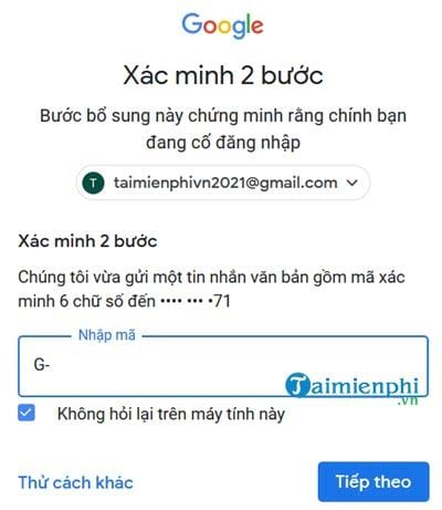 start verifying 2 gmail message on your phone 11