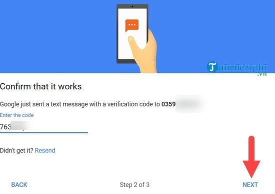 start verifying 2 gmail message on your phone 9