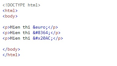 The expression in html