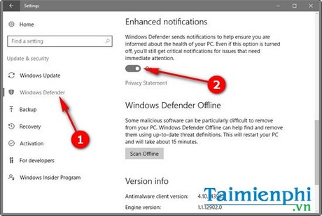 How to understand how the Windows Defender works on Windows 10