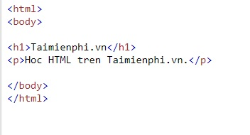 text in html 5