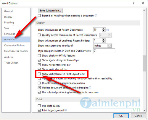 How to use ruler in word