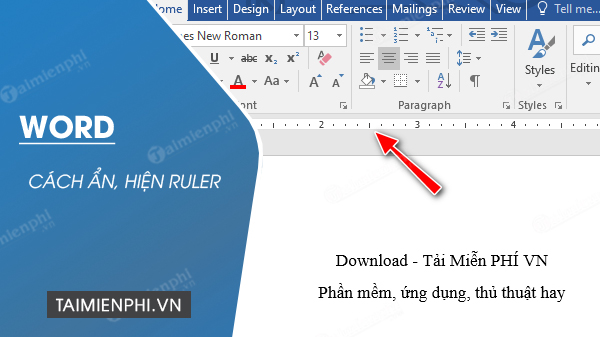 How to display ruler in word
