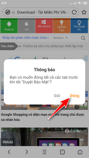 how to disable browser settings in mini browser 7