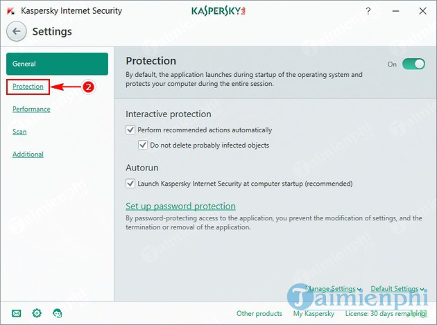 how to disable the fix on kaspersky 3