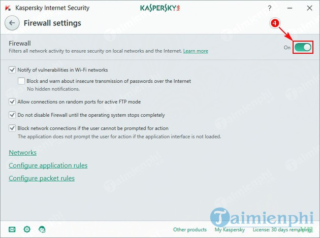 how to disable the fix on kaspersky 5