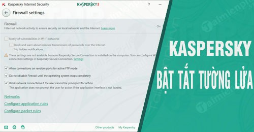 how to turn off the settings on kaspersky