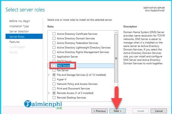 installing dns role in windows server 2012 5