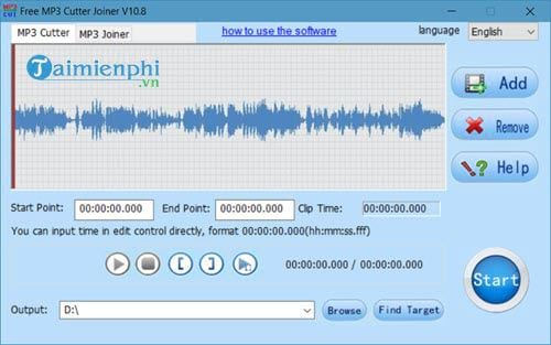 how to use free mp3 cutter joiner