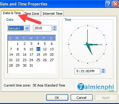How to set the time on the computer 18