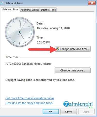 how to set the time on the computer 10