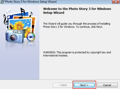 how to install photo story 3 for windows on a computer
