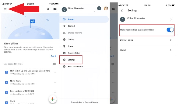 how to set up and use google docs outside of online 3