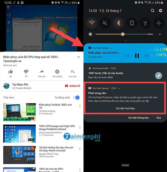 how to set up youtube music when tat phone screen 5