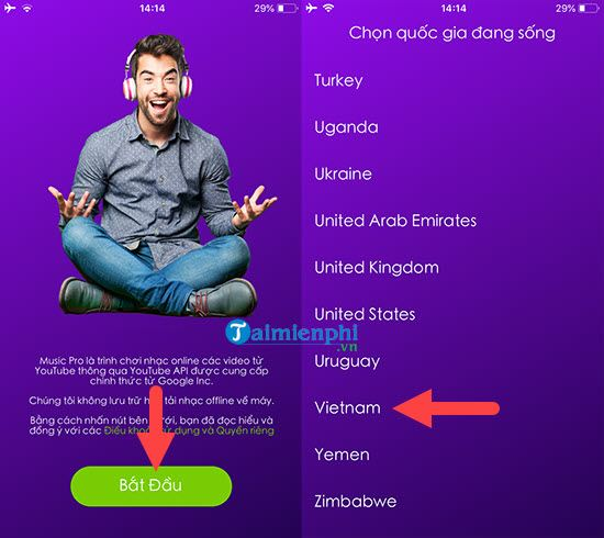 how to set up youtube music when tat phone screen 6