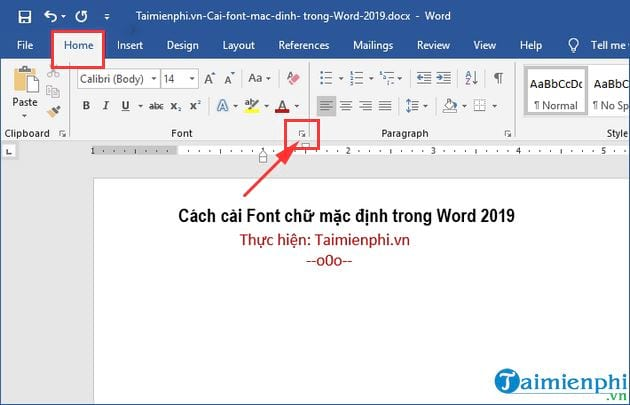 How to set font style in word 2019 2