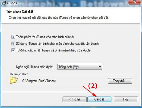 How to install iTunes version thap