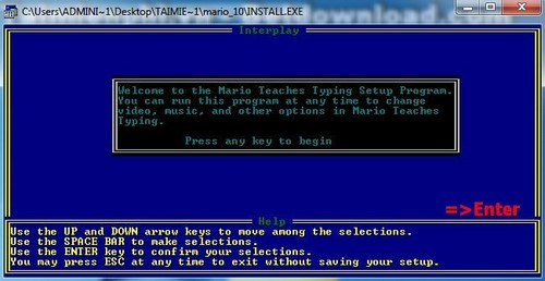 Install mario typing on Windows XP