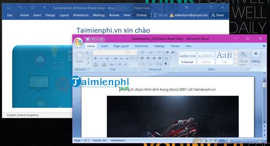 parallel office 2007 and 2016 on the computer