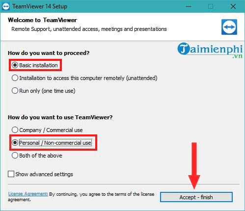 how to set teamviewer 14 3