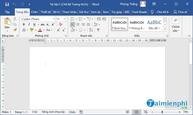 Vietnamese language for office 2019 15