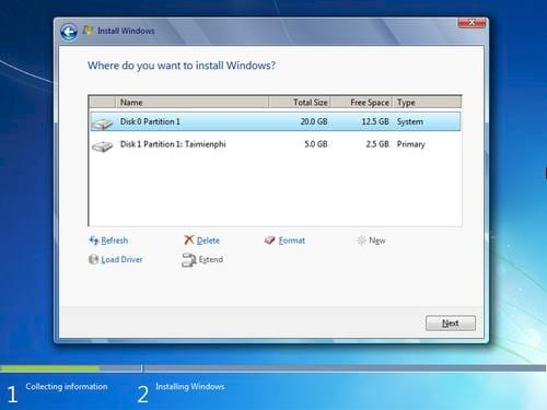 how to install windows 7 directly on hdd using the 8 format guide