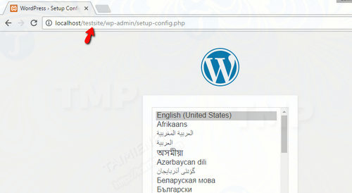 how to install wordpress on localhost 18
