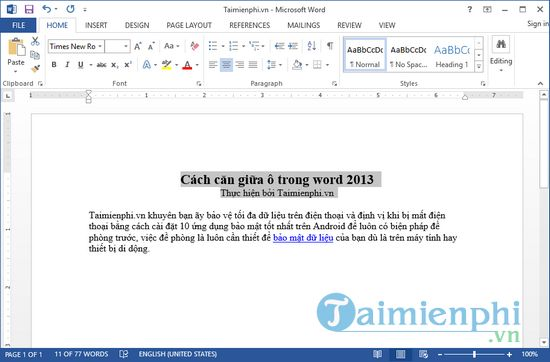 how to stay in word 2013 4