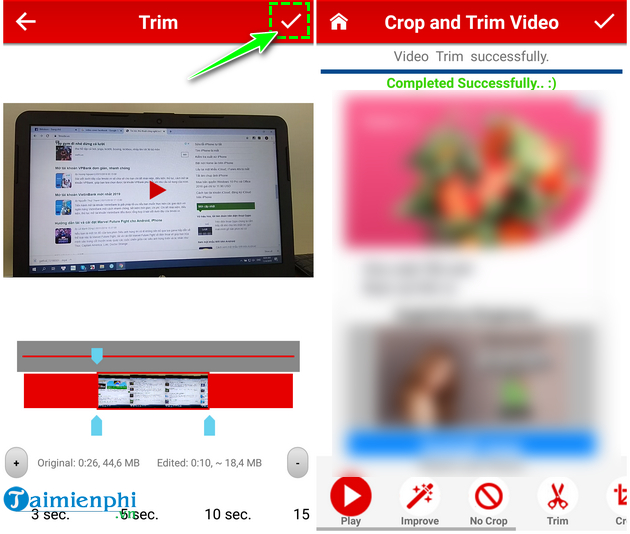 how to cat video on android fast and easy with crop trim video 11