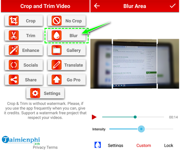 how to cat video on android fast and easy with crop trim video 12