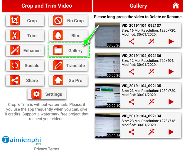 how to cut cat videos on android quickly and easily with crop trim video 20