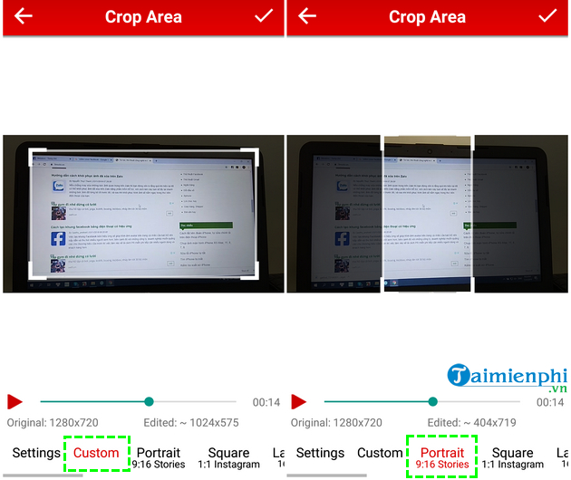 how to cat video on android fast and easy with crop trim video 5