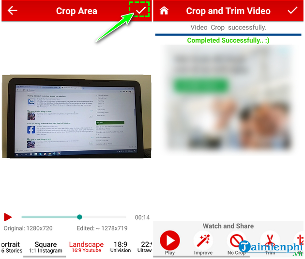 how to cat video on android fast and easy with crop trim video 8