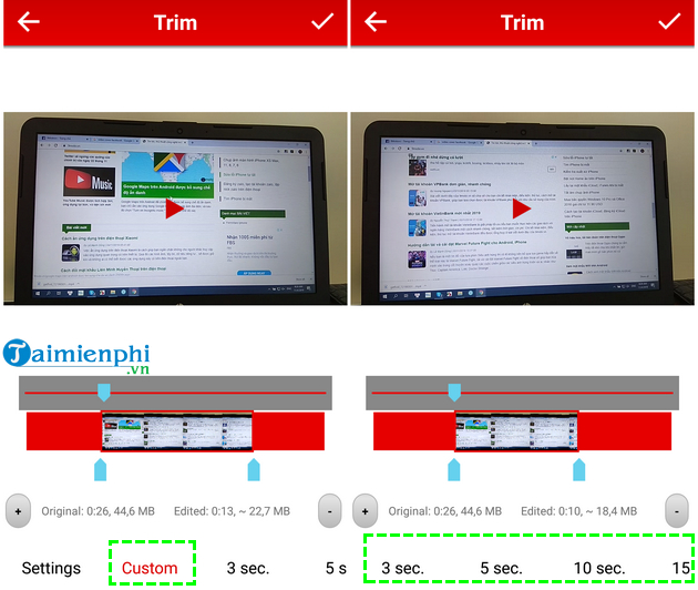 how to cat video on android fast and easy with crop trim video 10