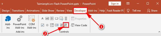 inserting flash into powerpoint 4