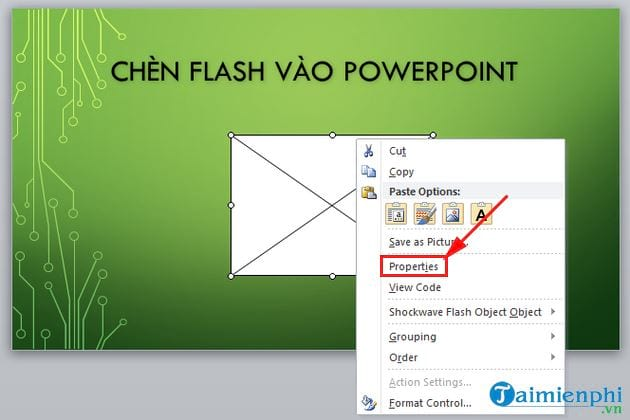 inserting flash into powerpoint 7