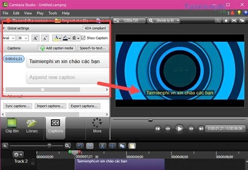how to insert text into the latest video 6