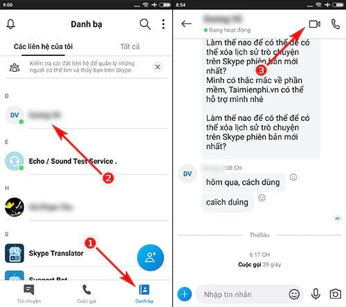 how to share phone screen on android with skype preview