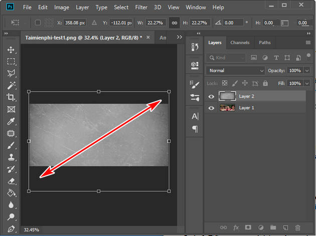 how to fix the problem by using film bang photoshop 7
