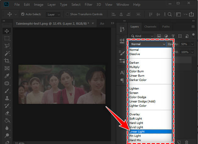 how to fix the problem of film overlay in photoshop 9