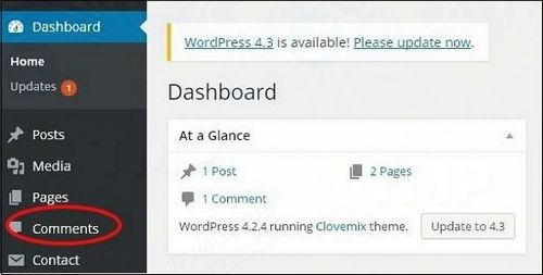 how to correct comment comments in wordpress 2