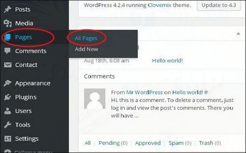 How to correct link in wordpress 2