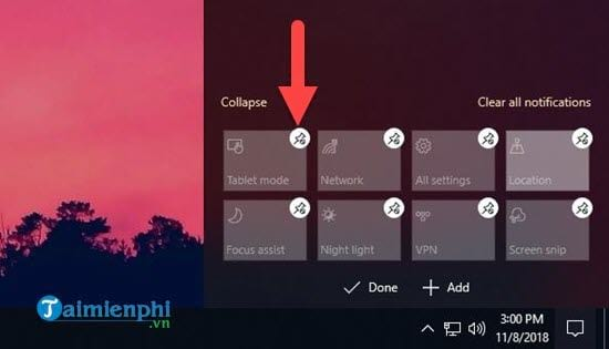 How to edit the action center button on Windows 10 5