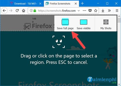 how to take a picture of the firefox chrome state website page 6
