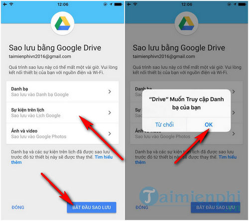 How to convert iPhone data to Android using Google Drive 3
