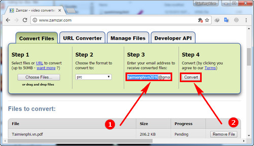 How to convert a pdf file to prc fastest 4